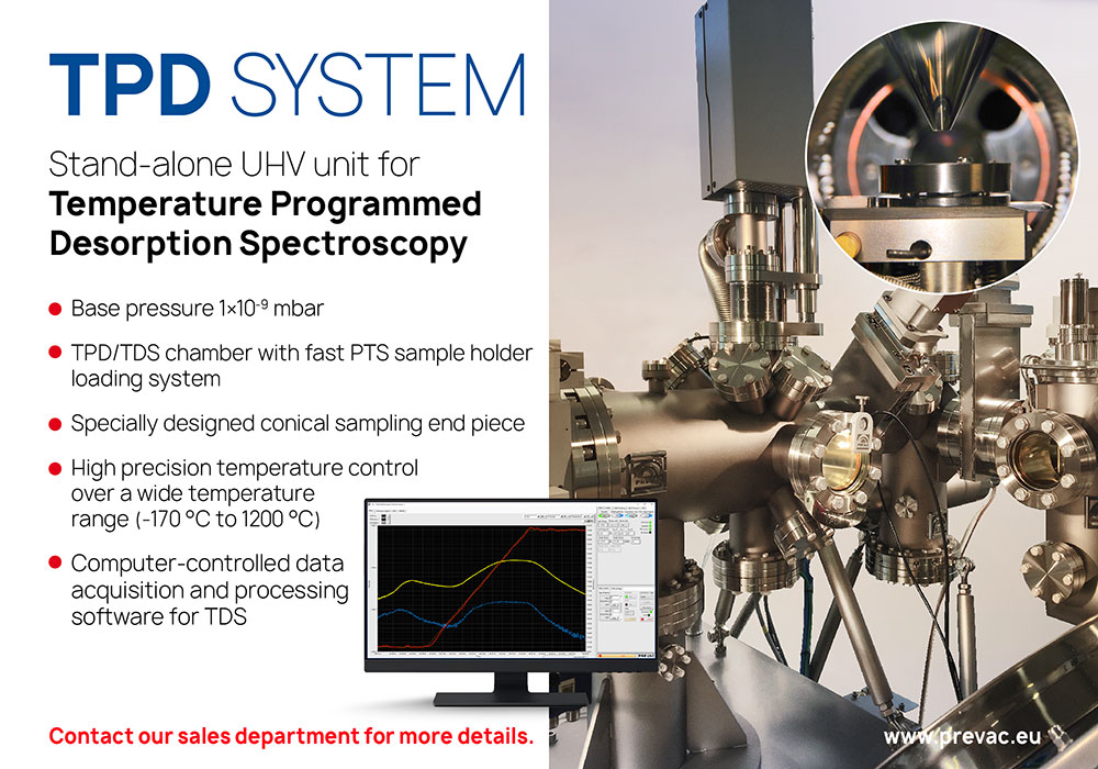 Stand alone UHV unit dedicated for Thermal Desorption Spectroscopy