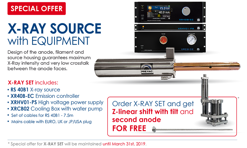 Check our special offer for X-ray source with equipment!