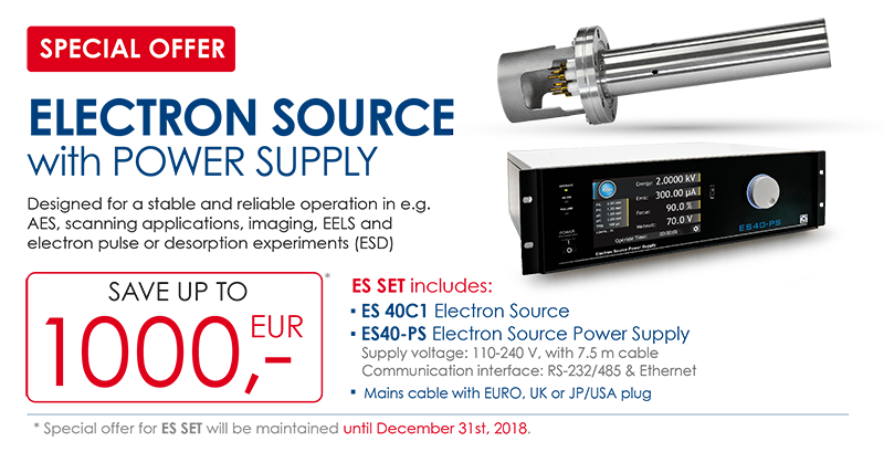 Check our special offer for electron source with power supply!